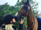 Kaley Cuoco Gives a Smooch to Her Horse Netty
