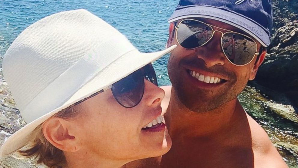 "PHOTO: Kelly Ripa posted this photo with husband Mark Consuelos to Instagram, Aug. 27, 2014, with the caption, ""Happy hump day to my beloved @instasuelos ! Thank you for making everyday feel like hump day!"""