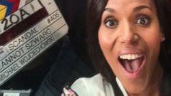 Kerry Washington Shares a Scandal-ous Selfie