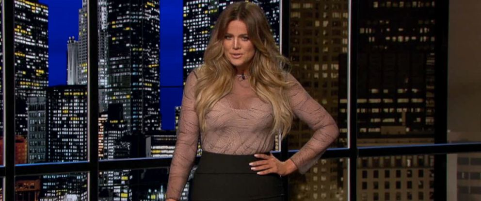 "PHOTO: Khloe Kardashian guest hosts an episode of ""Chelsea Lately,"" April 21, 2014."