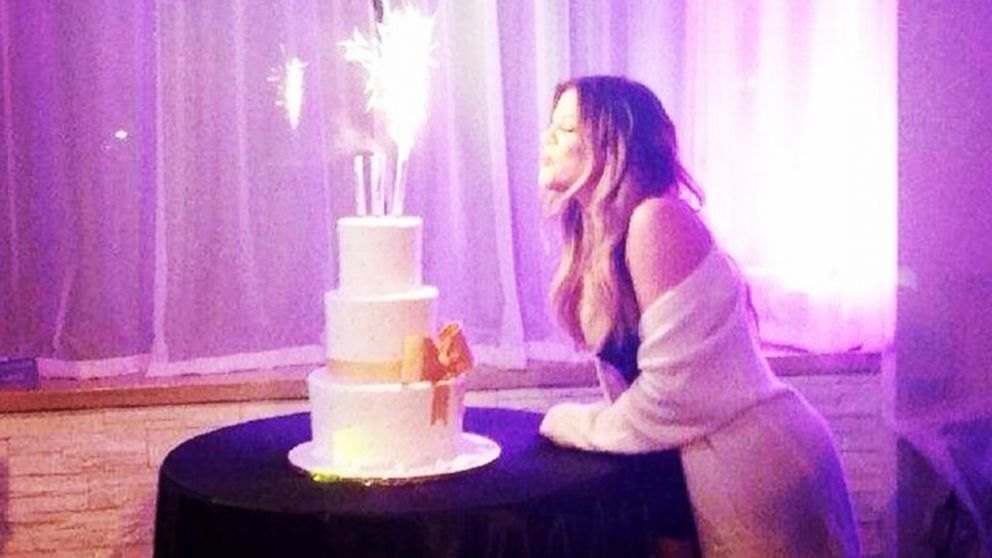 "PHOTO: Khloe Kardashian shared this fun shot of her at her birthday party, June 27, 2014, to her Instagram account captioned; ""I couldnt help but wish for a couple of forevers."""