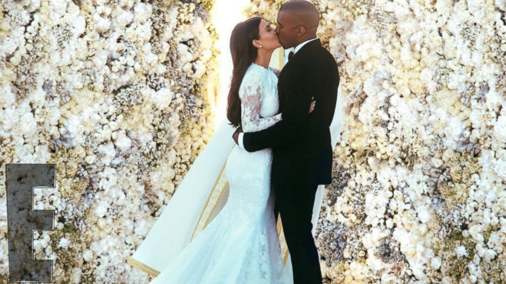 "PHOTO: Kanye West and Kim Kardashian said ""I do"" at the Forte di Belvedere in Florence, Italy, May 24, 2014. <a href=""http://www.eonline.com/news/545405/kim-kardashian-and-kanye-west-s-first-photos-as-a-married-couple-see-the-exclusive-pics-of-the-newlywe"