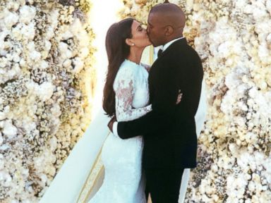 Kim and Kanye's Wedding Photos Released