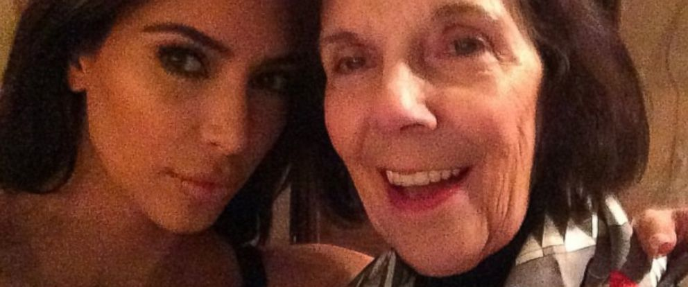 """PHOTO: Kim Kardashian posted this image on Instagram with this caption: """"my grandma MJ. Her 1st time in Paris,"""" May 21, 2014."""