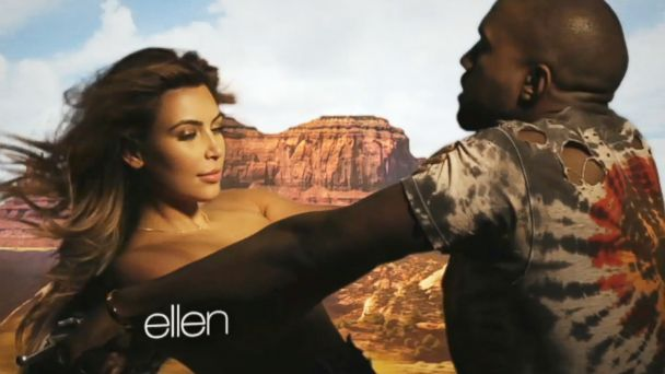 HT kim kanye video ml 131119 16x9 608 James Franco and Seth Rogen Spoof Kanye West and Kim Kardashians Bound 2 Video