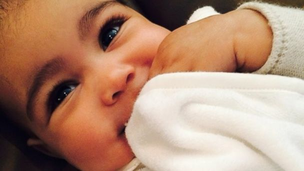 HT kim kardashian baby north west sk 131217 16x9 608 Kim Kardashian Slams Speculation She Waxed Baby Norths Eyebrows