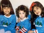 Kim Kardashian Shares a Throwback Christmas Photo of Her Sisters