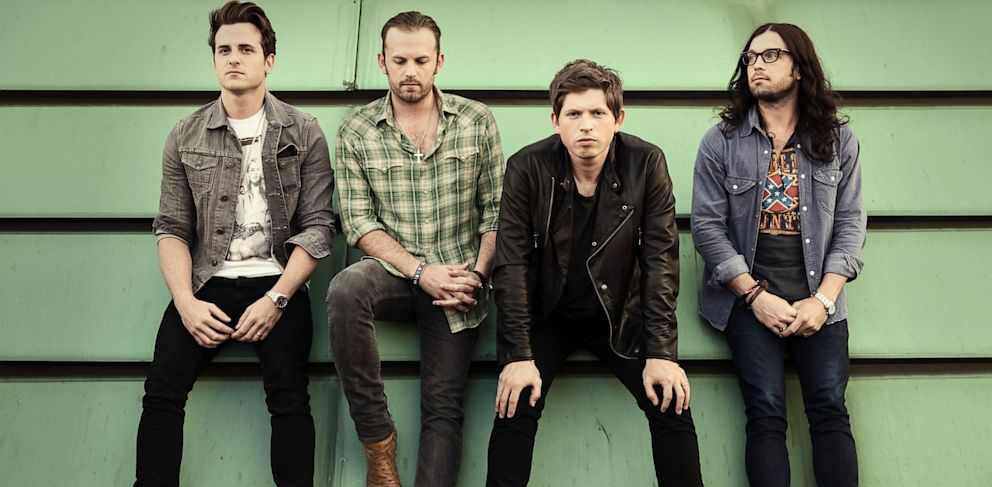 PHOTO: Left to right are Jared Followill, Caleb Followill, Matthew Followill and Nathan Followill of the Kings of Leon.