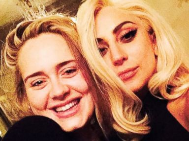 Lady Gaga and Adele Cozy Up for a Selfie