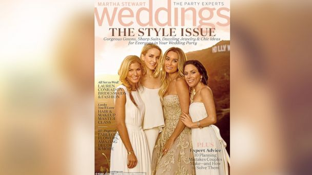 HT lauren conrad martha stewart weddings cover blur w jt 140827 16x9 608 Lauren Conrad Designed Her Bridesmaids Dresses Herself