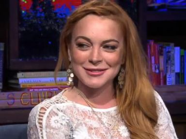 PHOTO: Lindsay Lohan reacts to a personal question on Watch What Happens Live, April 17, 2014.