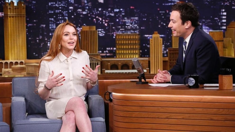 PHOTO: Actress Lindsay Lohan during an interview with host Jimmy Fallon, March 6, 2014.
