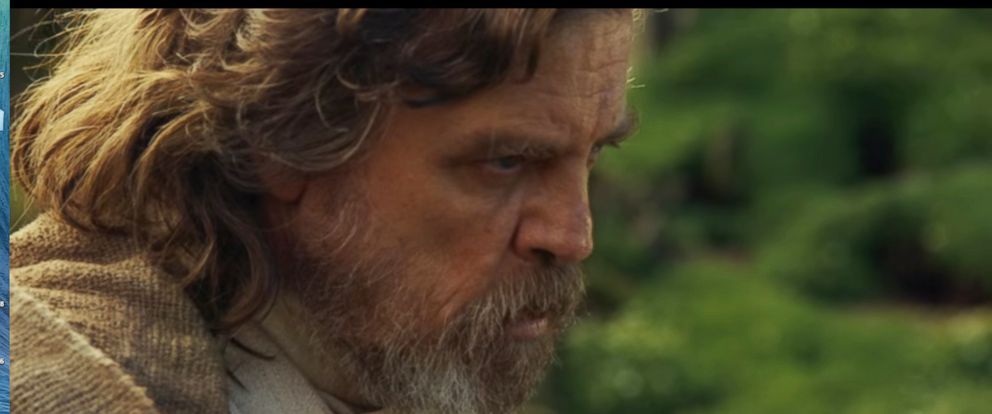 "PHOTO:Mark Hamill appears as Luke Skywalker in a promo for ""Star Wars: Episode VIII."""