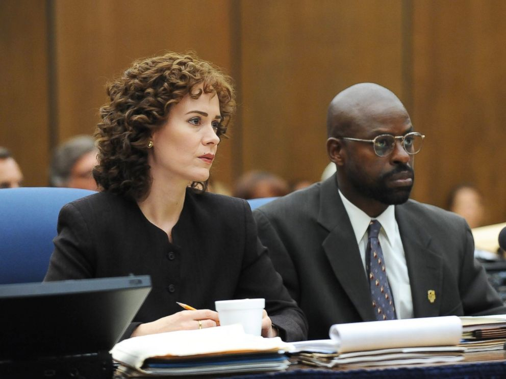 PHOTO: Sarah Paulson as Marcia Clark and Sterling K. Brown as Christopher Darden in The People v. O.J. Simpson: American Crime Story.
