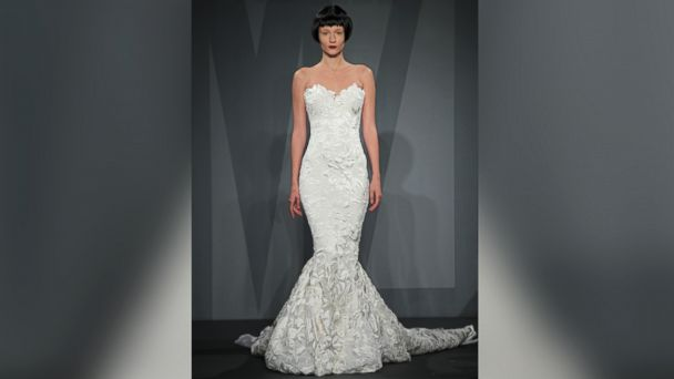 PHOTO: A model wears a wedding dress designed by Mark Zunino.
