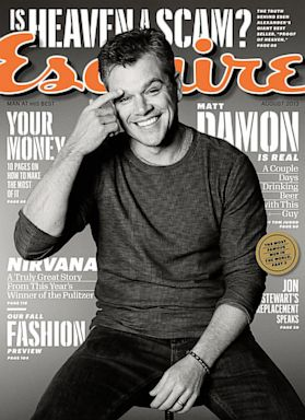 HT matt damon esquire nt 130708 8x11 384 Why Matt Damon Is Glad Hes Not Brad Pitt