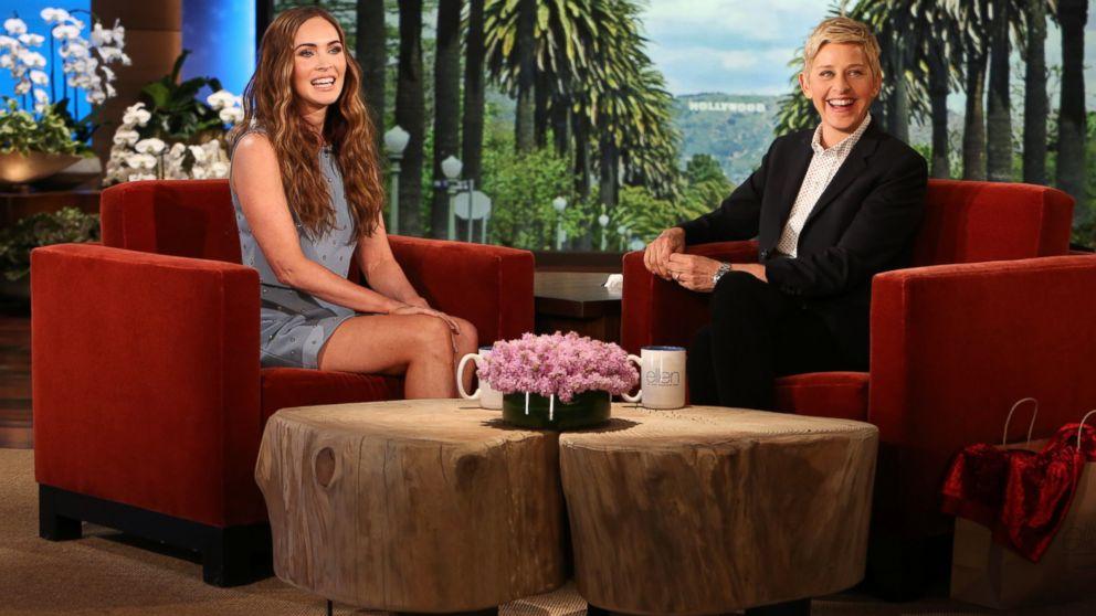 PHOTO: Megan Fox speaks with Ellen DeGeneres on The Ellen DeGeneres Show, May 5, 2014.