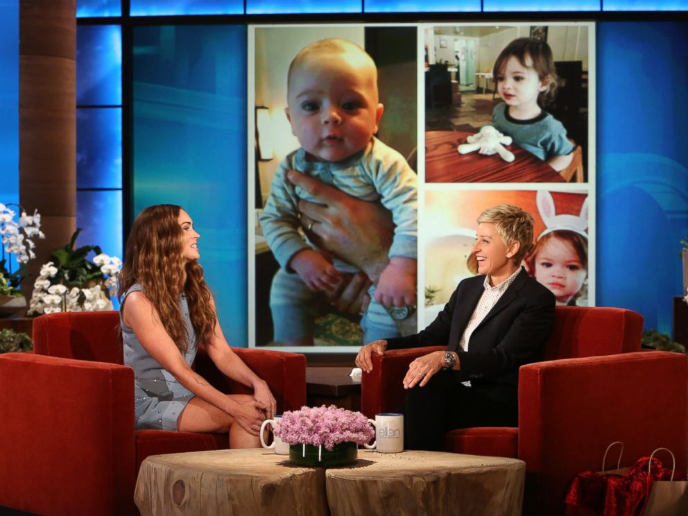 PHOTO: Megan Fox shows Ellen DeGeneres photos of her children