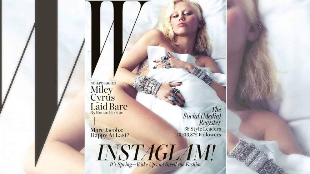 PHOTO: Miley Cyrus appears on Ws March 2014 cover.
