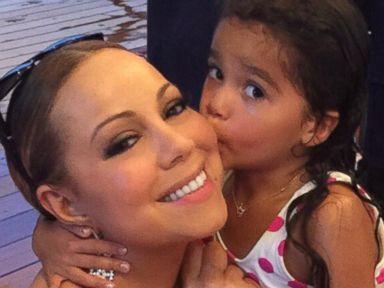 Mariah Carey Gets a Kiss From Daughter Monroe
