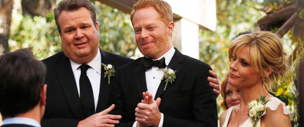 "PHOTO: Jesse Tyler Ferguson and Eric Stonestreets characters, Mitch and Cam, got married on the season finale of ""Modern Family."""
