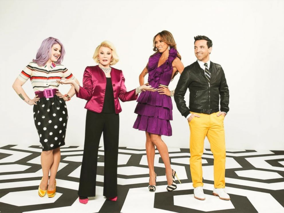 PHOTO: Kelly Osbourne, Joan Rivers, Juliana Rancic, and George Kotsiopoulos of Fashion Police, 2012.
