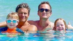 Neil Patrick Harris Takes a Swim With the Family