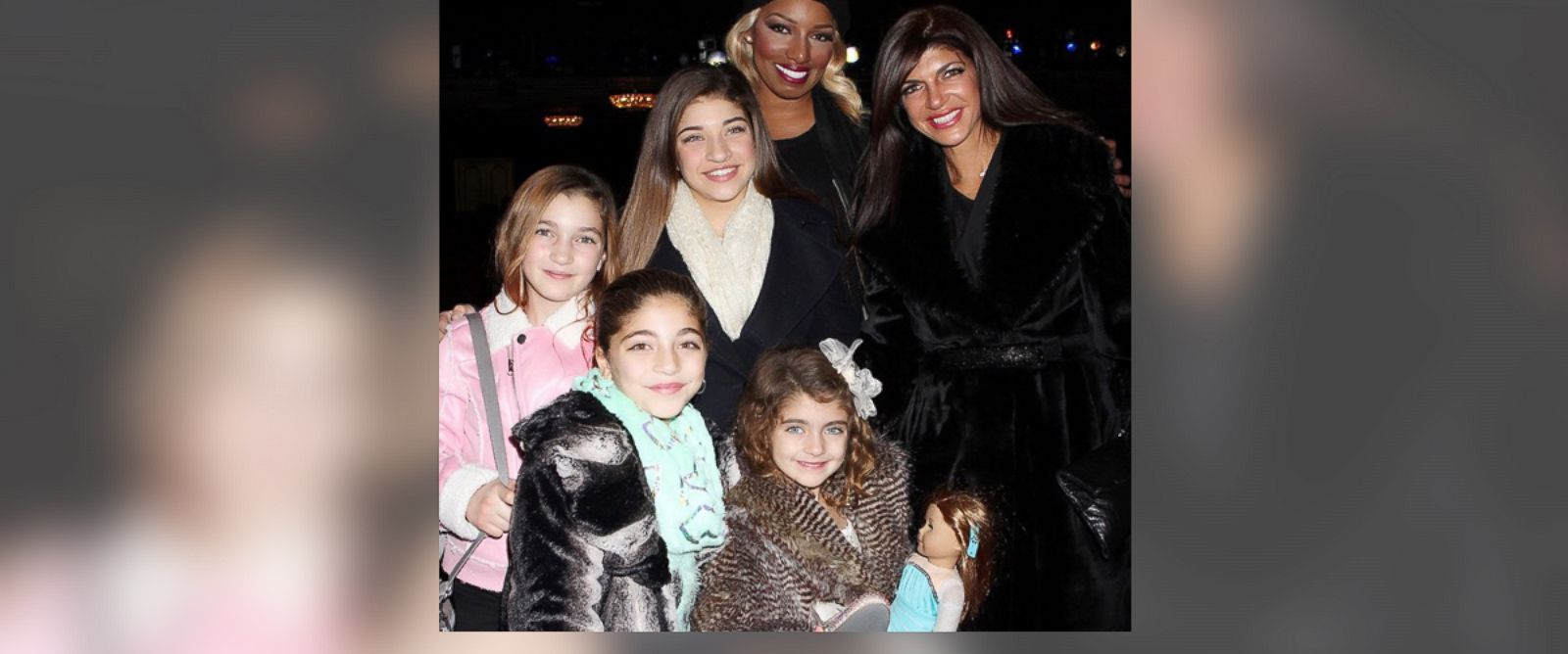"PHOTO: NeNe Leakes posted, ""Me @teresaguidice and her beautiful daughters at #cinderellabroadway I love the girls they were so fabulous??#lifeoftheleakes #fearlessnene,"" Dec. 11, 2014, on Instagram."