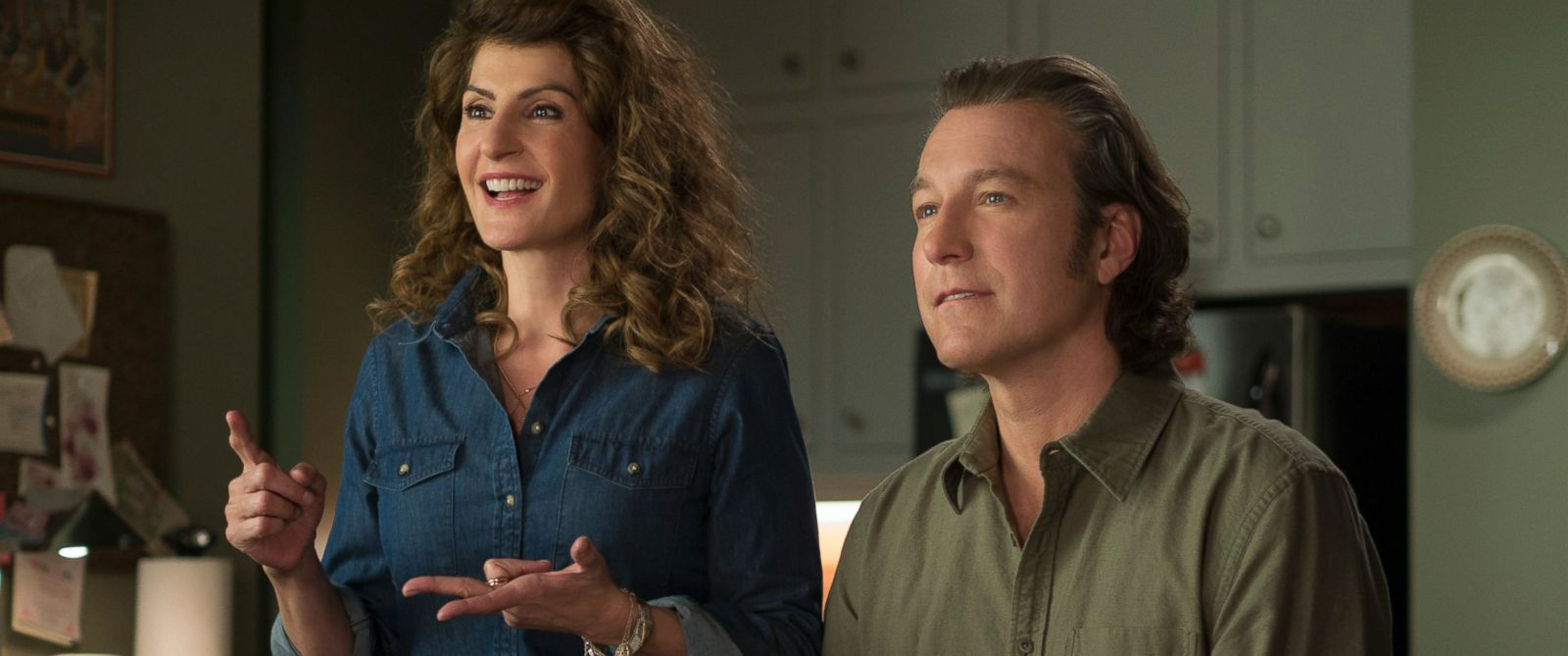 "PHOTO: Nia Vardalos and John Corbett in ""My Big Fat Greek Wedding 2."""
