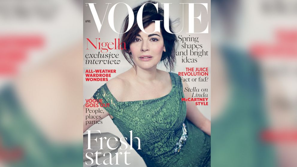 PHOTO: Nigella Lawson appears on the cover of the April 2014 issue of Vogue UK.