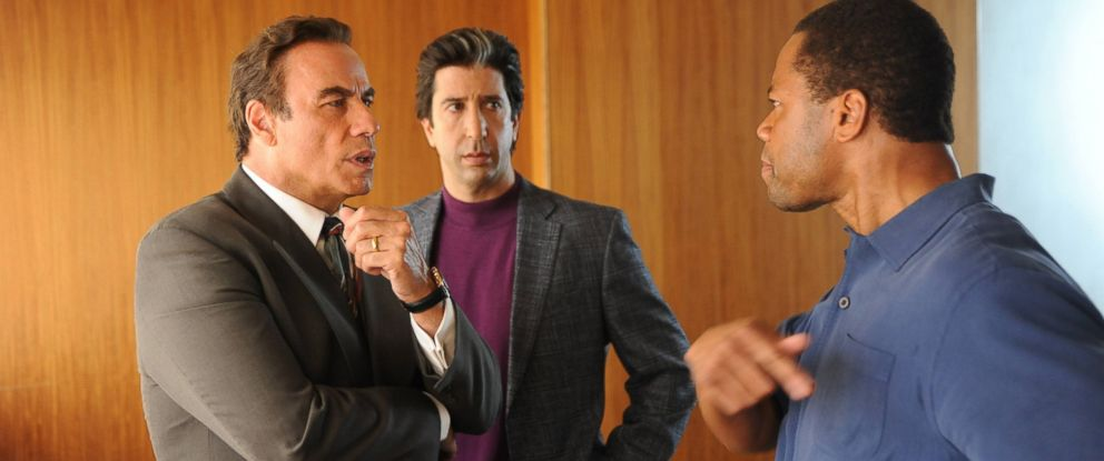 "PHOTO:John Travolta as Robert Shapiro, David Schwimmer as Robert Kardashian, Cuba Gooding, Jr. as O.J. Simpson in a scene from ""The People v. O.J. Simpson: American Crime Story."
