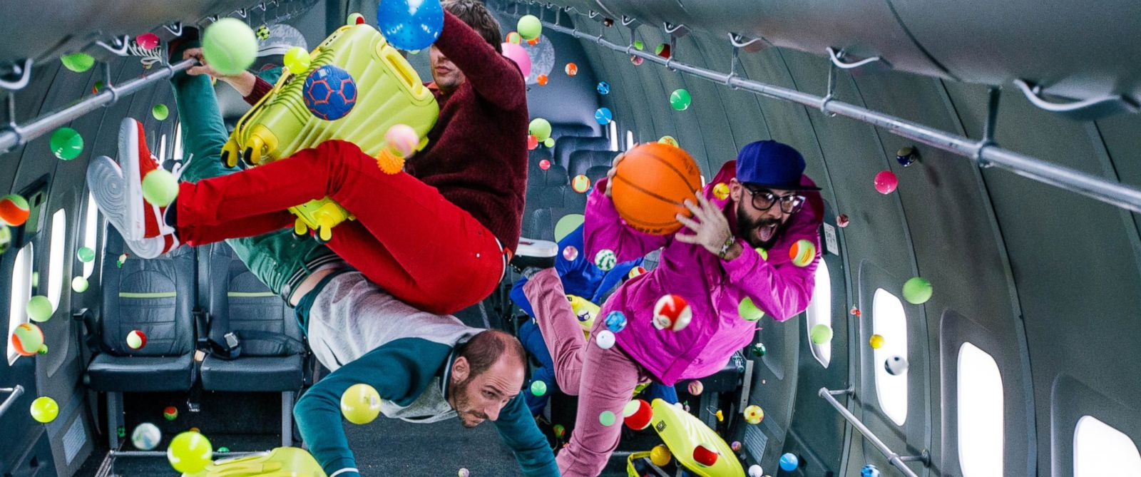 "PHOTO:Ok Go filmed the zero-gravity music video for their new single, ""Upside Down, Inside Out,"" at Russias Yuri Gagarin Cosmonaut Training Center."