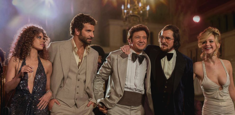 PHOTO: Jennifer Lawrence, far right, appears in a promotional image for the film American Hustle.
