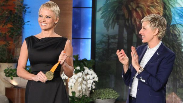 HT pamela anderson ellen show ml 131107 16x9 608 Pamela Anderson Sees Her Pixie Cut As A Fresh Start