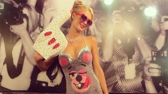 HT paris hilton jtm 131031 wmain Which Celebs Miley Cyrus Costume Is Best?
