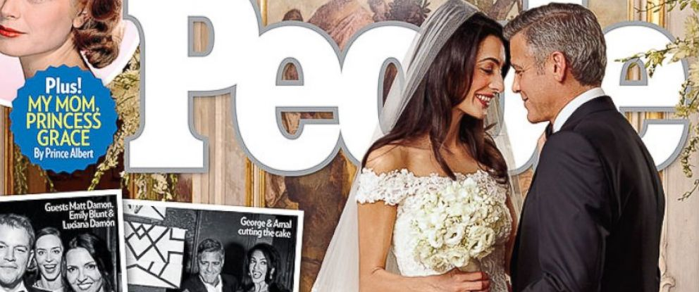 PHOTO: People magazine has the first look at George Clooney and Amal Alamuddins Venice nuptials.