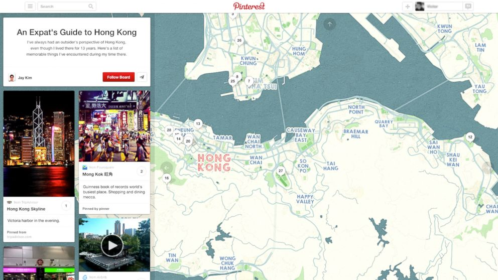 "PHOTO: On Nov. 20, 2013, Pinterest announced ""Place Pins,"" a new way to plan travel using inspiration boards."
