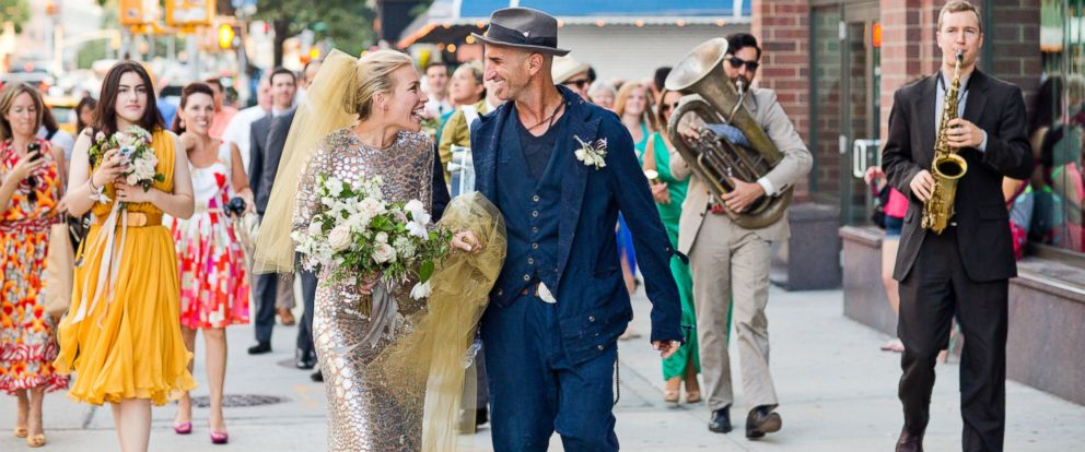 PHOTO: Piper Perabo and Stephen Kay on their wedding day, July 26, 2014, in New York.