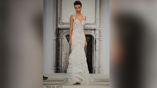 PHOTO: A model wears a Pnina Tornai wedding dress.