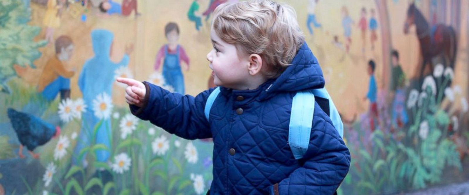 PHOTO: Prince George is seen on his way to his first day of nursery school, Jan. 6, 2016.