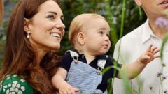 New Photos! Prince George Watches Butterflies with Will and Kate