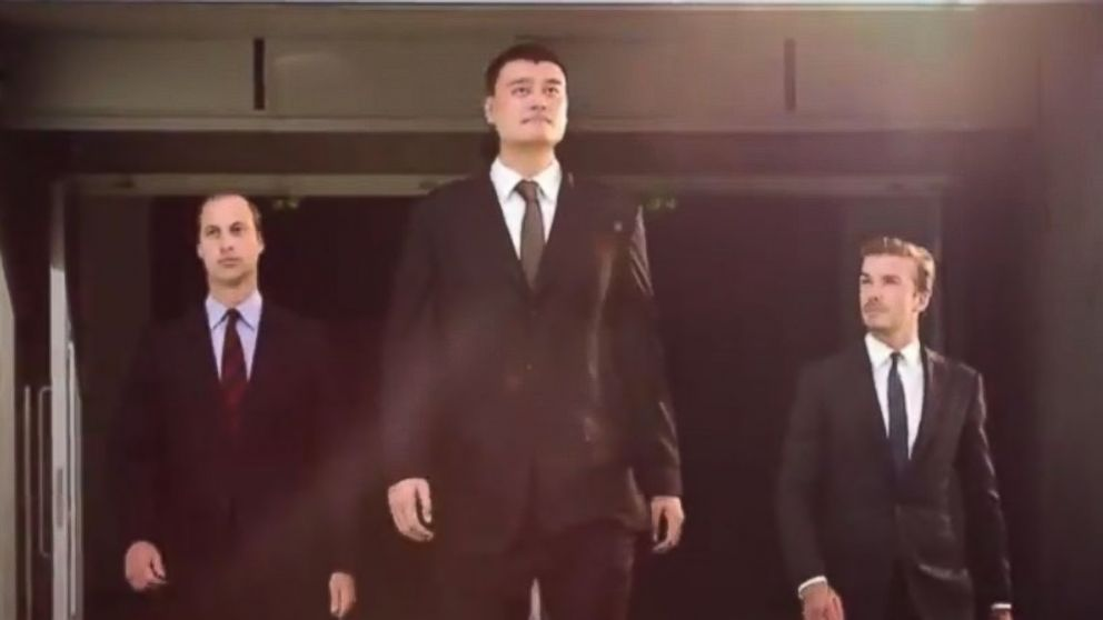 PHOTO: The Duke of Cambridge, David Beckham, and Yao Ming are featured in a new WildAid PSA.