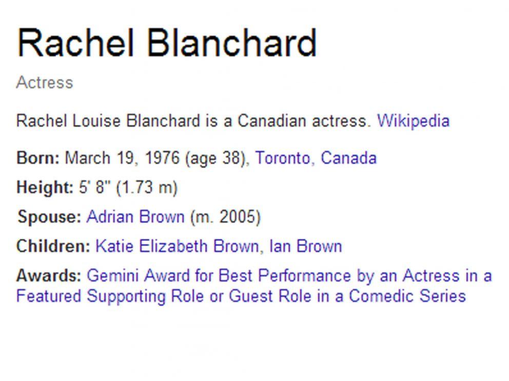 PHOTO: Rachel Blanchards biography.