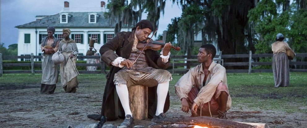 "PHOTO: Forest Whitaker and Malachi Kirby appear in a photo from the mini-series remake of ""Roots."""