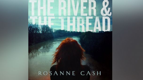 "Album art for Rosanne Cashs record ""The River and the Thread."""