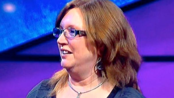 HT sandie baker jef 140416 16x9 608 Jeopardy! Contestant Misses Answer Under Her Nose (Literally)