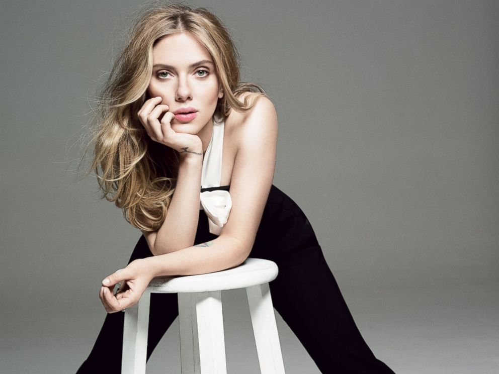 PHOTO: Scarlett Johansson in the May issue of Glamour.
