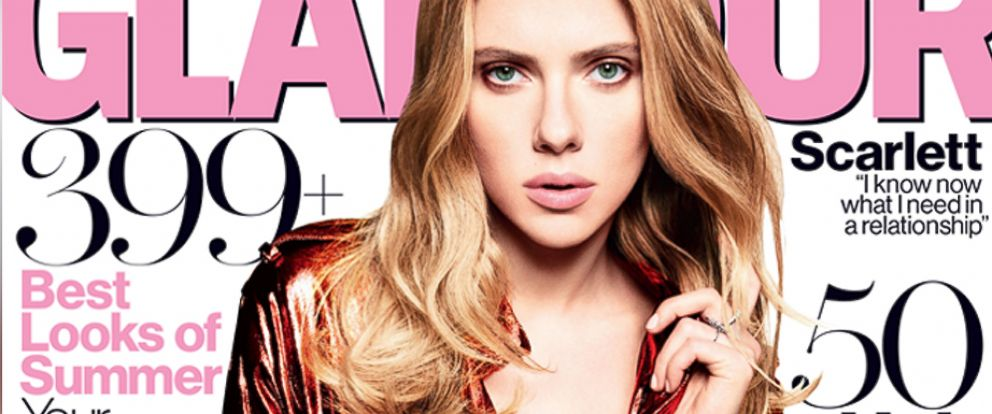 PHOTO: Scarlett Johansson on the May cover of Glamour.