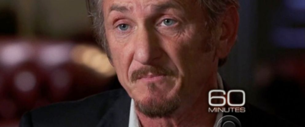 "PHOTO: Sean Penn is seen here during an interview on ""60 Minutes."""
