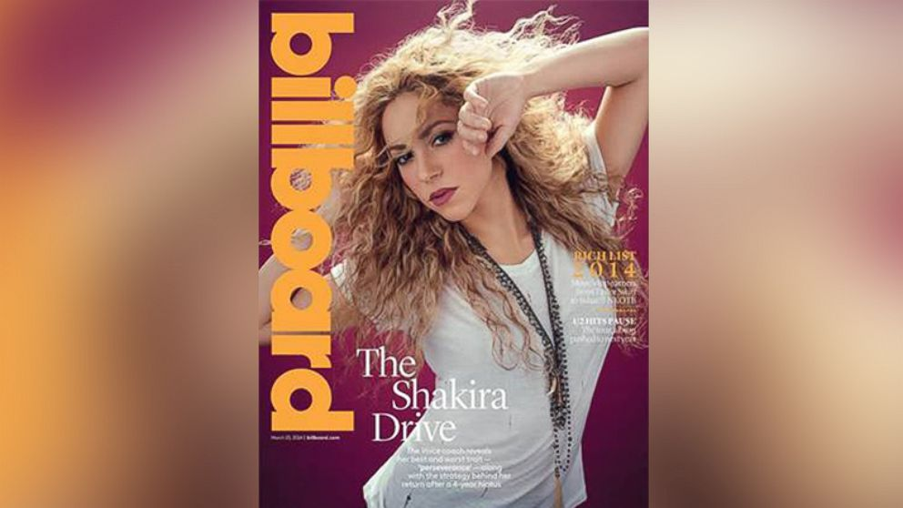 PHOTO: Shakira on the cover of Billboards March 15, 2014 issue.